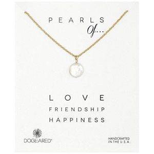 Dogeared Pearls of... White Coin Pearl Necklace